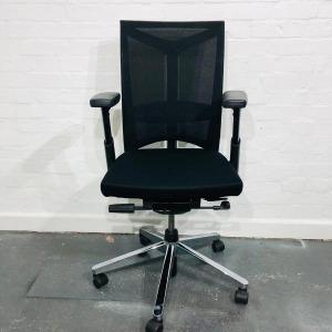 Used Haworth Comforto Executive Mesh Office Chair, Adjustable, Black