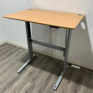 Used ConSet Height Adjustable Electric Sit Stand Desk, Beech, W1200mm