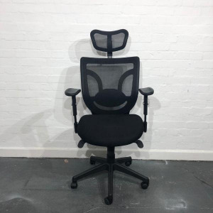 Used Executive Mesh Back Office Chair, Fully Adjustable With Headrest