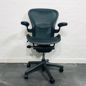 Used Herman Miller Aeron Mesh Office Chair, Size B, With Lumbar Support