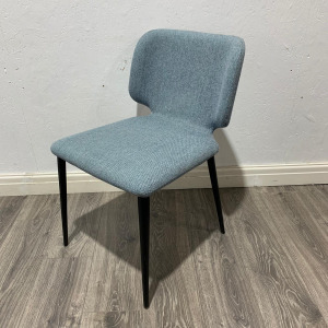 Used Modern Multi Purpose Reception / Dining Chair, Light Blue Fabric
