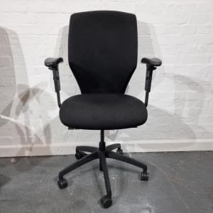 Used Donati Italian Office Task Chair, Fully Adjustable, Black