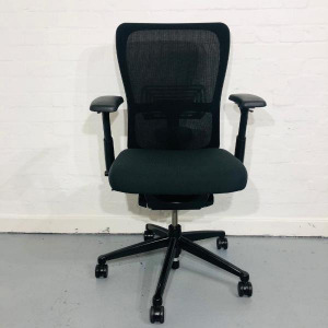 Used Haworth Zody Office Manager / Task Chair, Fully Adjustable, Black