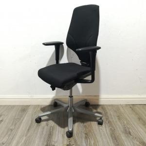 Used Giroflex G64 Office Task Chair, Adjustable, Rotation Armrests, Black