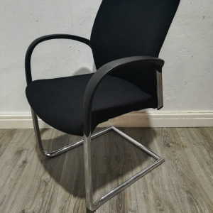 Used Senator Designer Stackable Office / Meeting Chair, Modern, Black