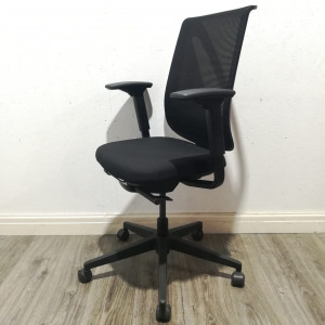 Used Steelcase Mesh Office Chair, Armrests, Lumbar Support