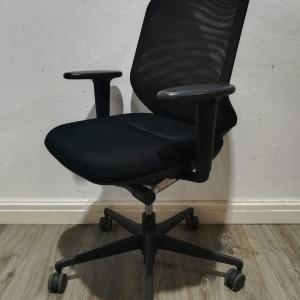 Used Vitra MedaPal Mesh Office Chair, Adjustable, Armrests, Black