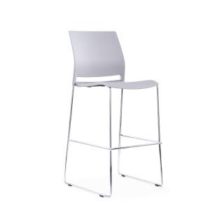 Multi Purpose Bar Stool, Plastic Seat, Metal Skid Frame (new)
