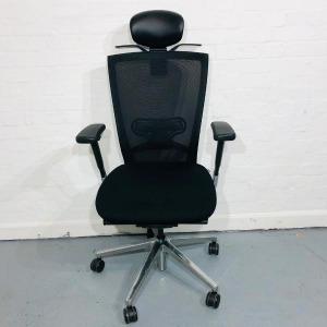 Used Techo Sidiz T50 Task Chair, Adjustable, Lumbar Support, Headrest
