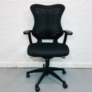 New Executive Office Chair, High Mesh Butterfly, Back, Armrests