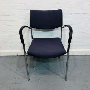 Used Kusch+Co Stackable Multipurpose Reception Chair, Armrests, Blue