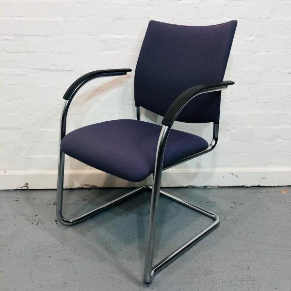 Used Kusch+Co Stackable Cantilever-Frame Conference Chair, Blue