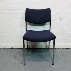 Used Kusch+Co Stackable Multipurpose Reception Chair, Blue Fabric