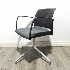 Used Boss Design Mars Komac Mesh Meeting Chair, Fixed Swivel Base