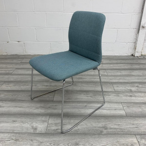 Used Boss Design Stackable Multipurpose Meeting Chair, Light Blue
