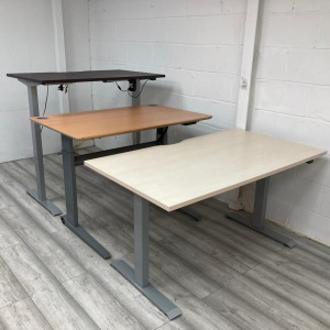 Custom Electric Sit Stand Desk, New Frame, Used Top (Various Colours / Sizes)