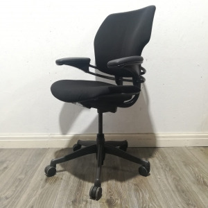 Used Humanscale Freedom Office Chair, Adjustable Armrests, Black