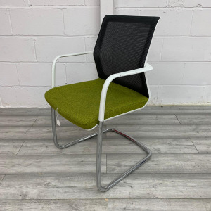 Used Orangebox Workday Mesh Meeting Chair, Cantilever Frame, Green