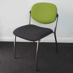 Used Stacking Meeting / Multipurpose Chair - Dark Grey & Green