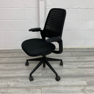 Used Steelcase Series 1 Mesh Office Chair, Armrests, Lumbar Support