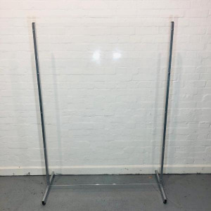 Clear Acrylic Free Standing Protection Screen, Height 1780mm (New)