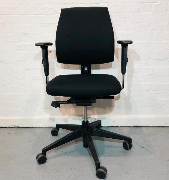 Used Interstuhl Bureaustoel 21, Office Task Chair, Armrests, Black