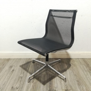 Used ICF Eames EA108 Designer Office Meeting Chair, No Arms, Black