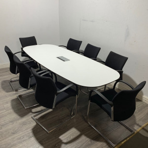 Used Offecct Boardroom / Meeting Table, 8 Person, Power, 2400mm