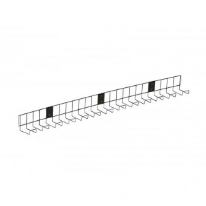 Universal Under-Desk Cable Tray, Black Metal, W1000mm (New)