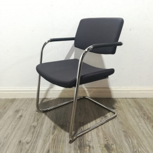 Used Verco Mix Match Stacking Meeting Chair, Chrome Cantilever Frame