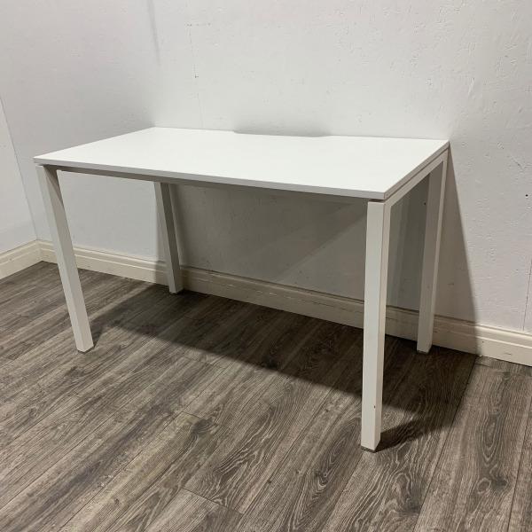 Used Verco White Rectangular Office Desk, W1200mm x D600mm