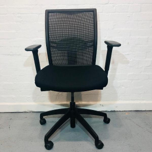 Used Sven Christiansen Mesh Task Chair With Lumbar Support, Black