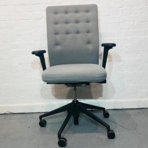 Used Vitra ID Trim Office Task Chair, Adjustable, Armrests, Light Blue
