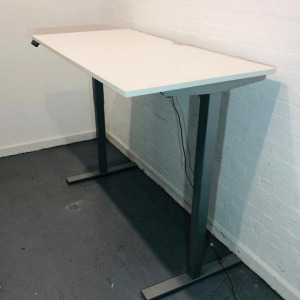 Used Senator Electric Sit Stand desk, White, Height Adjustable, 1600mm
