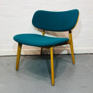 Used Modus PLC Scandinavian-Style Reception Chair, Oak Frame, Teal Fabric