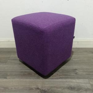 Used Edge Design Reception Seating Cube, Purple Fabric