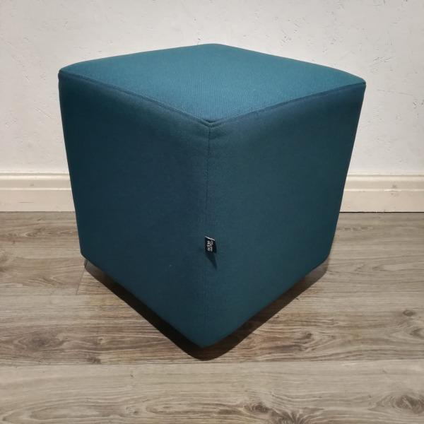 Used Edge Design Reception Seating Cube, Light Seagreen Fabric