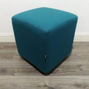 Used Edge Design Reception Seating Cube, Turquoise Fabric