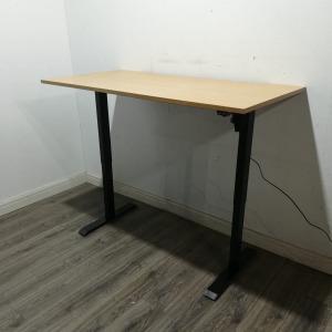 Sit Stand Desk, Electronic, Height Adjustable, Light Oak, W1600mm
