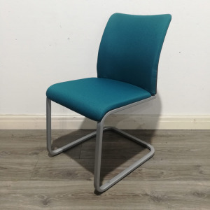 Used Steelcase Meeting / Conference Chair, Cantilever Frame, Blue
