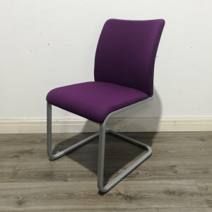 Used Steelcase Meeting / Conference Chair, Cantilever Frame, Purple