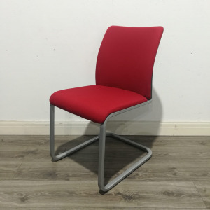Used Steelcase Meeting / Conference Chair, Cantilever Frame, Red